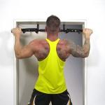 Profi Fitness Sport Türreck Klimmzugstane für Türrahmen schwarz bis 130 kg
