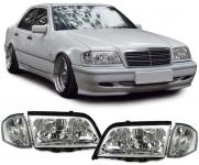 Klarglas Scheinwerfer mit Blinker für Mercedes W202 C Klasse 93-00