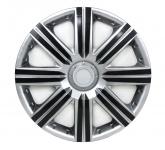 Radkappen Radzierblenden für Stahlfelgen Set Tenzo-R II 15 Zoll silber schwarz