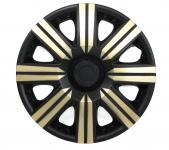Radkappen Radzierblenden für Stahlfelgen Set Tenzo-R II 14 Zoll schwarz gold