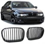 Sport Nieren Kühlergrill schwarz glänzend für BMW 5er E39 Limousine Touring