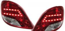 FACELIFT LED KLARGLAS RÜCKLEUCHTEN ROT KLAR FÜR Peugeot 207 3+5 TÜRER 06-12