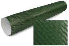 3D Carbon Folie selbstklebend 30cm *1.524 Meter Tarnfarbe oliv grün