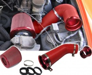 Cold Air Performance Kit mit Sport Luftfilter Set rot