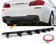 Universal Heck Diffusor für Stoßstange hinten mit 7 Finnen Carbon Optik