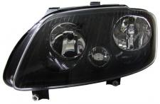 H7 H1 Scheinwerfer schwarz mit Stellmotor links für VW Touran 03-06 + Caddy 0