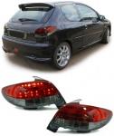 LED RÜCKLEUCHTEN KLARGLAS ROT SCHWARZ FÜR Peugeot 206 98-06