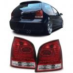 LED Klarglas Rückleuchten rot klar für VW Polo 9N3 05-09