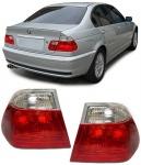 Rückleuchten rot weiß klar Facelift Optik für BMW 3ER E46 Limousine 98-01