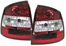 Klarglas Rückleuchten rot klar für Opel Astra G 97-04