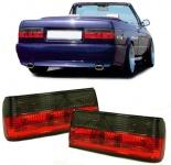 Klarglas Rückleuchten rot schwarz für BMW 3ER E30 ab 87 + Touring