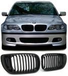 Sport Nieren Kühlergrill schwarz matt für BMW 3ER E46 LimousineTouring 01-05