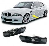 Klarglas Seitenblinker schwarz smoke Blackchrom für BMW 3ER E46 98-03