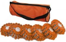 6er Set LED Notfall Warnleuchte LKW Absicherung Warnblitzer orange rot