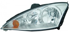 H1 / H7 Scheinwerfer chrom links TYC für Ford Focus I 01-04