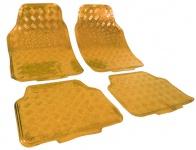 Auto Gummi Fußmatten universal Alu Riffelblech Optik chrom gold
