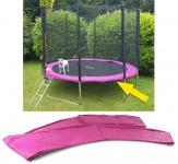 Sicherheits Schutz Rand Abdeckung für Trampolin Sprungfedern 305 CM pink