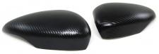 Aussen Spiegelkappen Abdeckungen Cover Carbon Optik für Ford Fiesta 6 VI 08-17