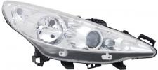 H1 / H7 / H7 Scheinwerfer rechts TYC für Peugeot 207 CC WD 07-