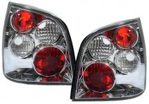 Klarglas Rückleuchten chrom für VW Polo 9N 01-05