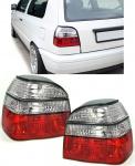 Klarglas Rückleuchten rot klar Kristall für VW Golf 3 91-97