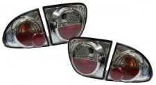Klarglas Rückleuchten chrom für Seat Leon 99-06