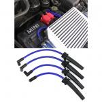 Silikon Sport Zündkabel Zündleitungssatz Blau Set für Mini R50 R52 R53 01-06