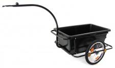 Fahrradanhänger Gepäck Transport Einkauf Handwagen schwarz Zuladung 90 Liter
