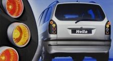 HELLA UPGRADE RÜCKLEUCHTEN SCHWARZ LACKIERFÄHIG für Opel Zafira A F75 99-05