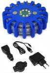 LED Warnleuchte Absicherung Warnblitzer blau mit Akku + Ladekabel