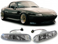 ** Klarglas Blinker vorne chrom mit E Prüfzeichen für Mazda MX5 Typ NA 90-98