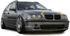 SCHEINWERFERBLENDEN SET MIT ABE FÜR BMW 3ER E46 Limousine Touring ab 01