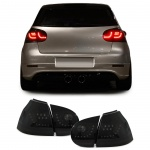 KLARGLAS LED RÜCKLEUCHTEN SCHWARZ SMOKE FÜR VW Golf V 5 Limousine 03-08