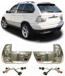 Klarglas Rückleuchten silber chrom für BMW X5 E53 99-03