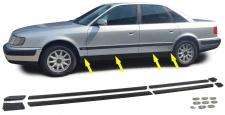 Stoßleisten Zierleisten Türleisten Set unten für Audi 100 C4 90-94