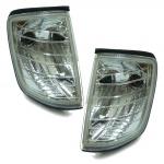Klarglas Blinker chrom für Mercedes W124 85-93