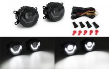 Klarglas LED Nebelscheinwerfer mit LED Tagfahrlicht für Peugeot 206+ 207 207CC