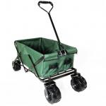 Offroad Falt Handwagen Bollerwagen faltbar Breitreifen bis 80kg grün schwarz