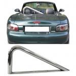 Überrollbügel Roadsterbügel Edelstahl poliert für Mazda MX-5 Miata NA NB 89-05