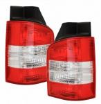 Rückleuchten rot klar - Flügeltüren für VW T5 Bus + Transporter 03-09