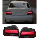 Klarglas LED Lightbar Rückleuchten schwarz smoke für BMW 5er E39 Limousine 95-00