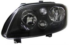 H7 H7 Scheinwerfer schwarz mit Stellmotor links für VW Touran 03-06 + Caddy