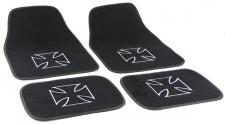 Auto Velours Fußmatten Iron Cross Eisernes Kreuz universal 4-teilig