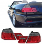 LED Rückleuchten rot schwarz Sport Optik für BMW 3ER E46 Cabrio 00-07