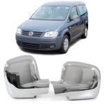 Aussen Spiegelkappen Abdeckungen Cover chrom für VW Caddy 2K ab 03