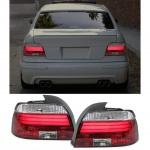 Klarglas LED Lightbar Rückleuchten rot klar für BMW 5er E39 Limousine 95-00