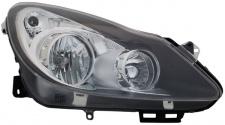 SCHEINWERFER H1 H7 SCHWARZ RECHTS FÜR Opel Corsa D 06-11