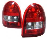Klarglas Rückleuchten rot klar für Opel Corsa B 93-00