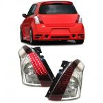 LED Klarglas Rückleuchten rot klar für Suzuki Swift III auch Sport 05-10