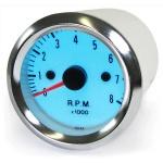 Drehzahlmesser Zusatz Instrument chrom Style 52mm Plasma blau